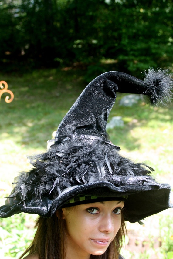 Witch Hat, Crows and Crow Feathers