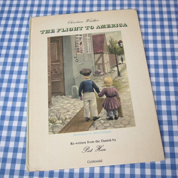the flight to america, vintage 1976 children's book in ENGLISH and DUTCH