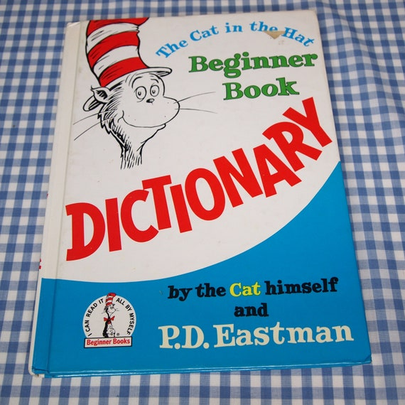 the cat in the hat dictionary, vintage 1970s children's book