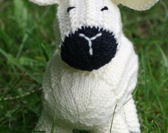 KNITTING PDF PATTERN - Sheep Softie - Lucy Lamb