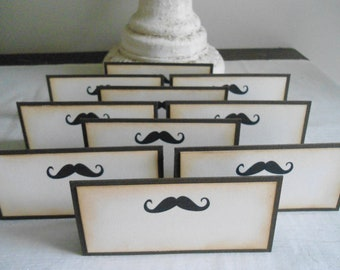 Vintage Inspired Mustache Place/Escort Cards