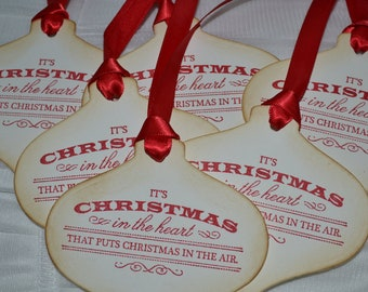 It's Christmas... - Vintage Inspired Ornament Style Tags