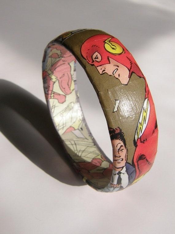 The Flash Comic Book Bracelet