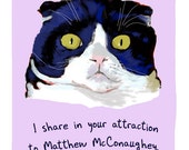 Scottish Fold Cat 8x10 Print of Original Painting with phrase
