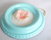 ReLoved Sky Blue Circle Frame with Pink Flower