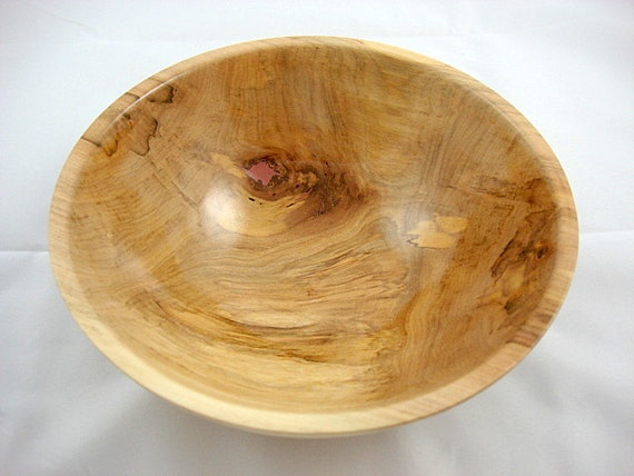 Wooden Character Bowl, Spalted Maple, Lathe Turned
