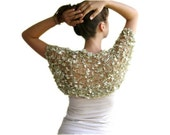 Bridal Shrug in Golden Green - Bridal Bolero - Sweater - Vest -  Spring Summer Fall Fashion - Women Teens Accessories