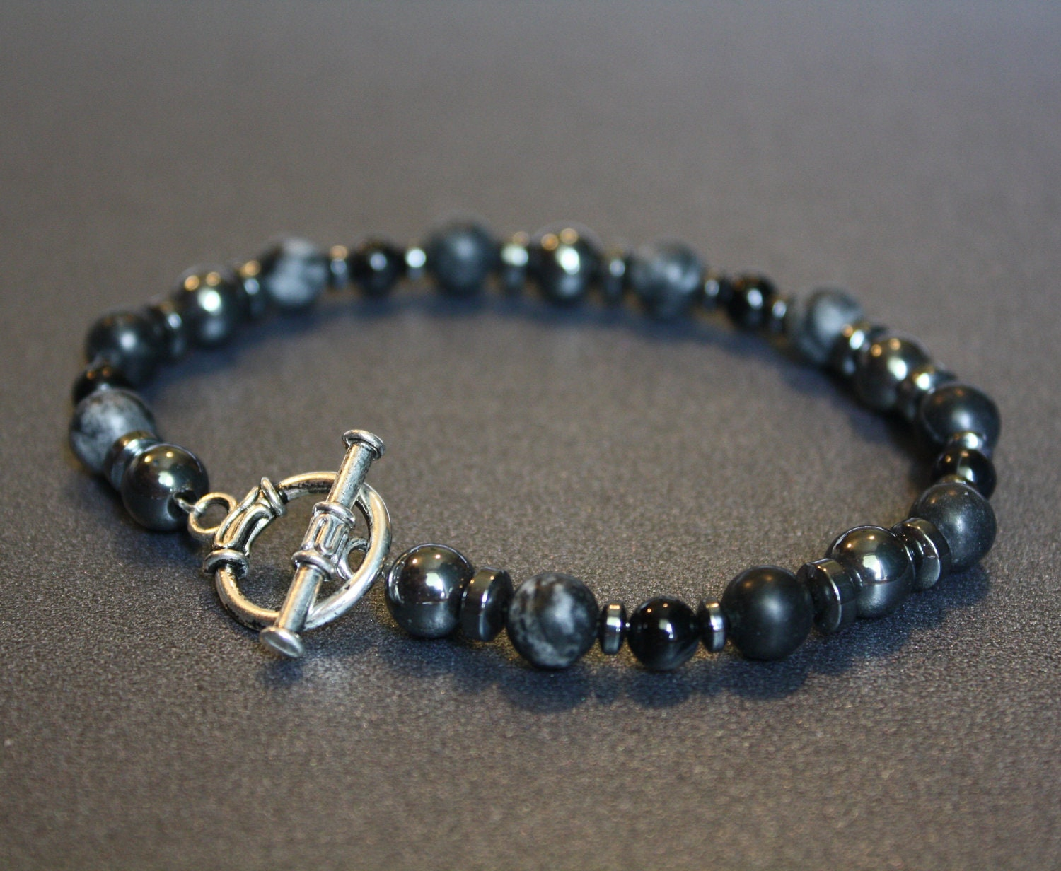 Mens Beaded Bracelets Hematite Jewelry Bracelets for by ...
