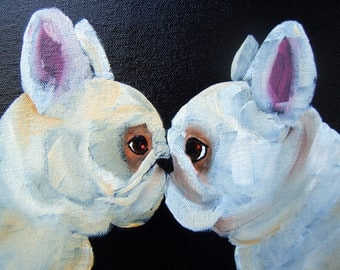 "French Bulldog Art Print of an original oil painting/""Big Attitude""/ 8 x 10 - Dog art"