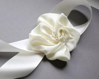 Bridal  Flower Sash...  Gardenia Hand Made Design