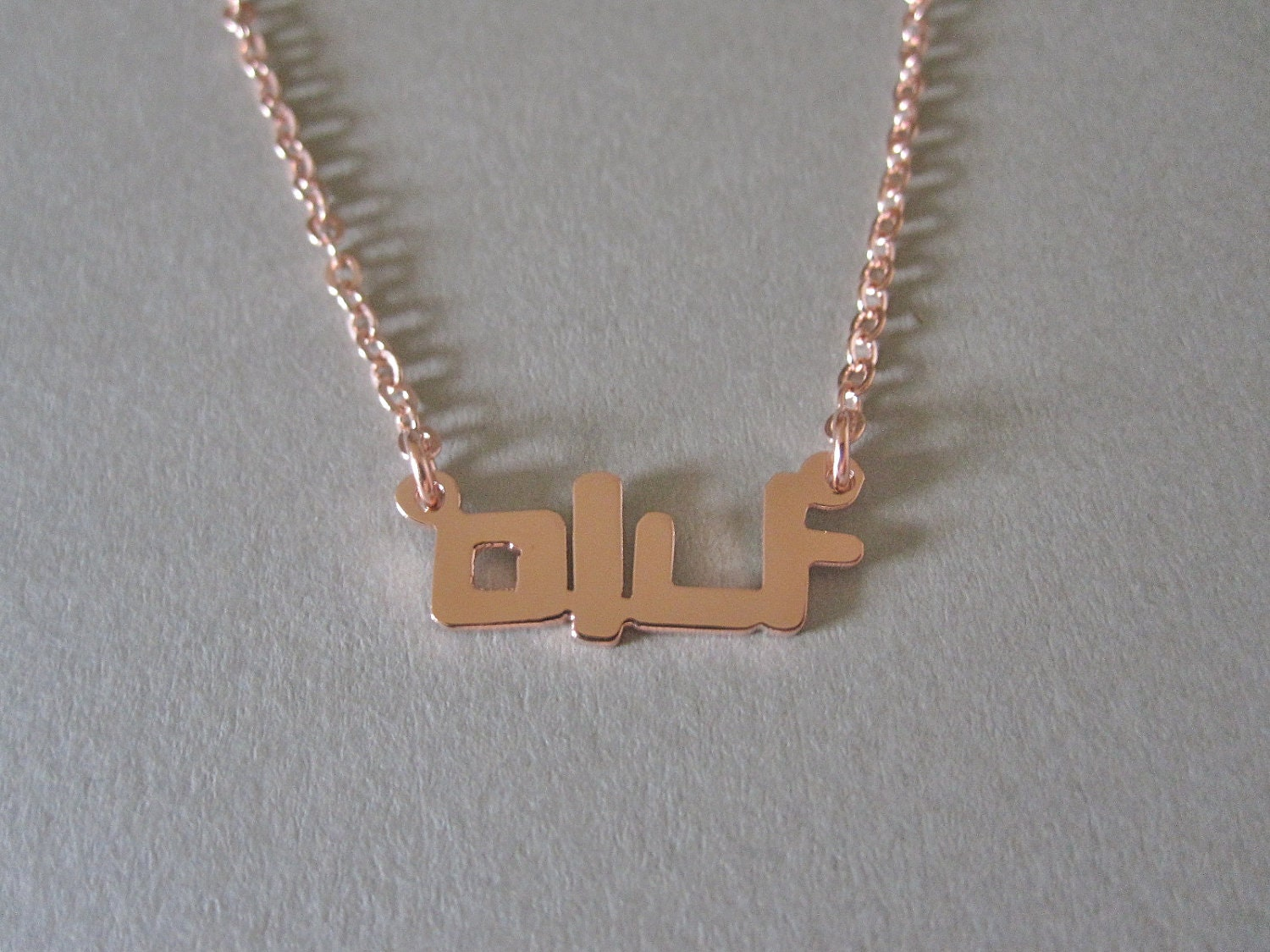 Personalized mini rose gold korean name necklace for Rose gold personalized jewelry