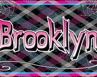 Monster High Inspired Personalized Placemats / Party Favors