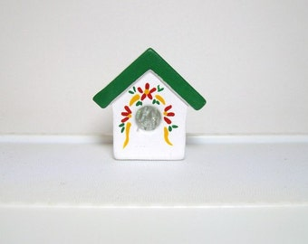 Ceramic miniature - birdhouse