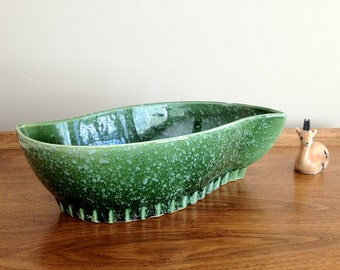 Hull Pottery Planter Green 406 USA Ceramic