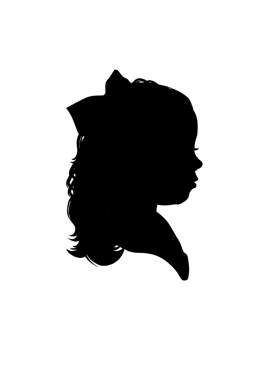 Pics For > Victorian Woman Silhouette Bust