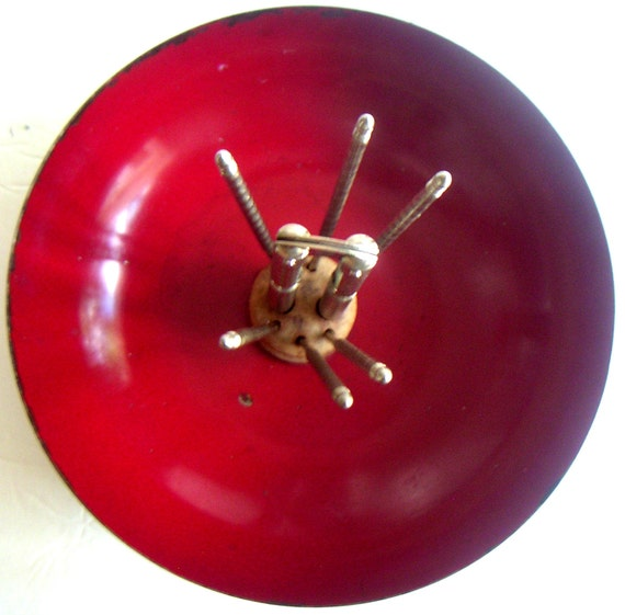 Vintage Metal Nut Cracker Bowl With Nut Cracker and Picks. Walnuts,Almonds,