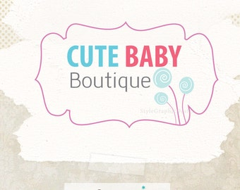 Cute custom premade logo boutique logo ooak business branding and watermark