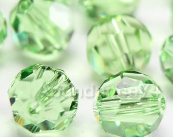 Swarovski Elements Crystal Beads 5000 Round Ball Beads PERIDOT - Available in 5mm and 7mm