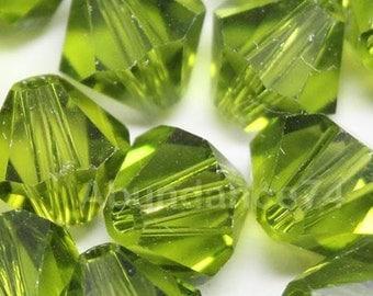 Clearance Sale - 12pcs Swarovski Elements - Swarovski Crystal Beads 5301 5328 8mm Bicone Beads - Olivine