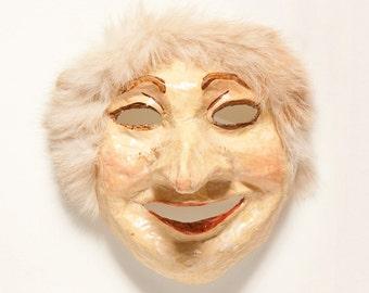 Paper mache Buratino mask