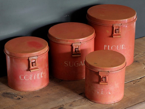 Antique Kitchen Canister Set Of 4 Reserved