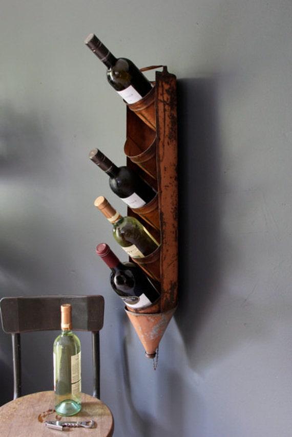 Antique Oil Can Rack, Repurposed Wine/Alcohol Holder