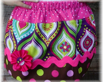 Girls Twirl Skirt Custom ...Funky Diva..Available in 0-12mon,1/2,3/4,5/6,7/8, 9/10 Bigger Sizes Available