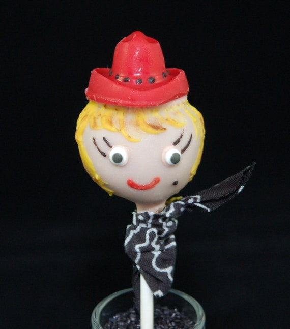 Cowgirl Themed Cake Pops