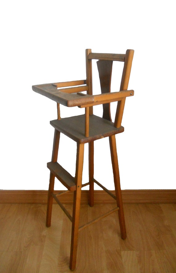 1950s wooden high chair pictures to pin on pinterest