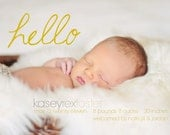 "INSTANT DOWNLOAD Custom Photo Birth Announcement Template ""Hello Baby"""