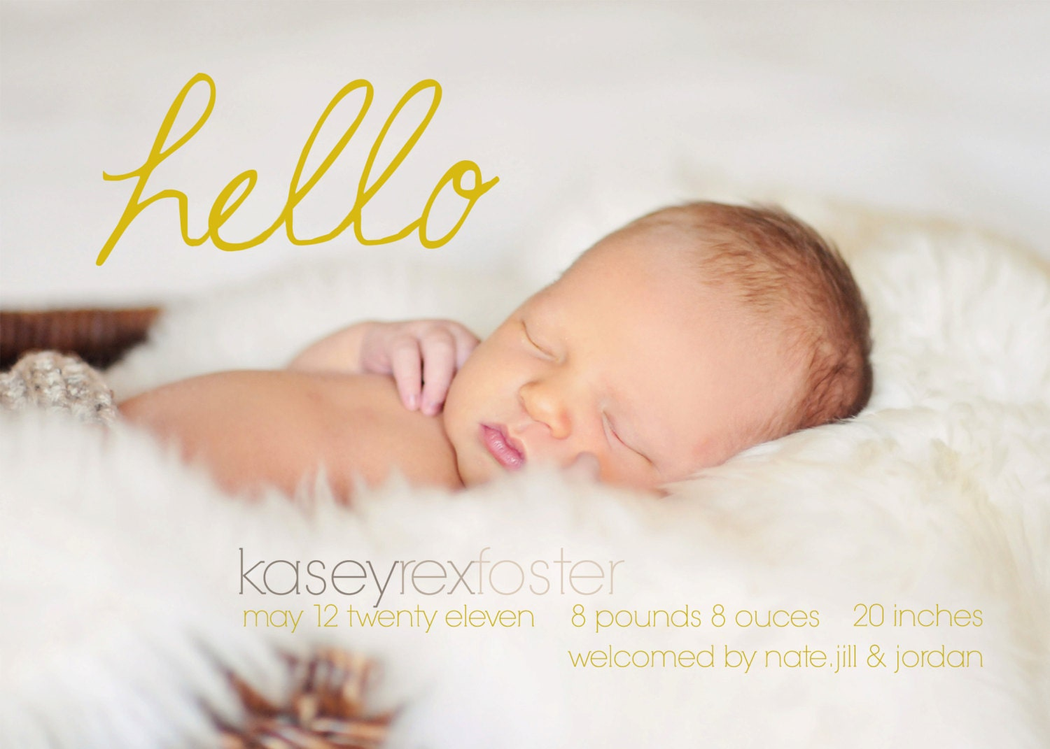 INSTANT DOWNLOAD Custom Photo Birth Announcement Template – Free Baby Announcements Templates
