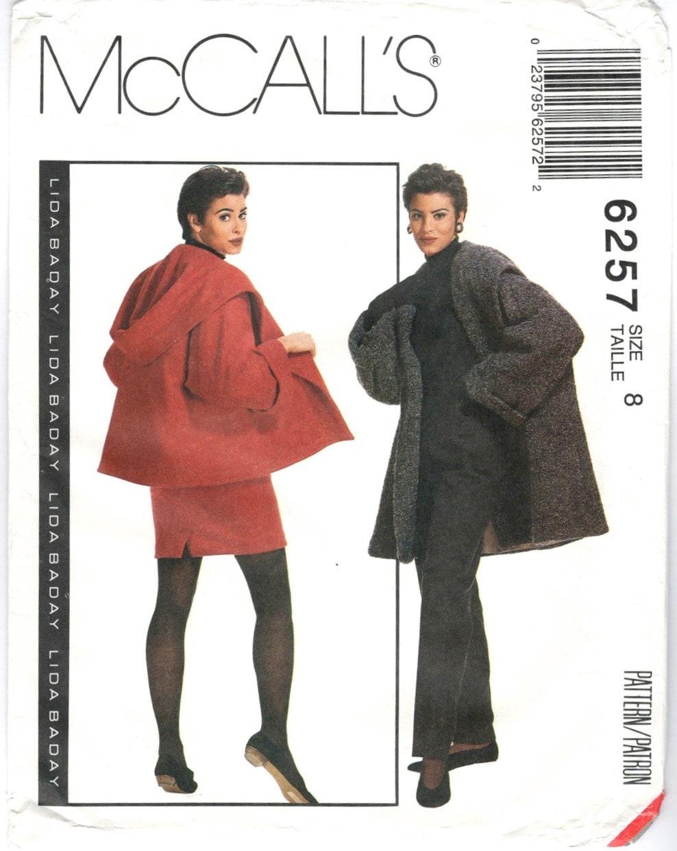 1990s Lida Baday coat, jacket, skirt and pants pattern - McCall's 6257