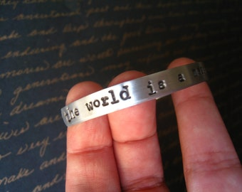 "Dr. Horrible ""The World Is a Mess And I Just Need To Rule It"" Bangle, Dr. Horrible's Sing-a-Long Blog Inspired, NPH, Arrives Gift Wrapped"