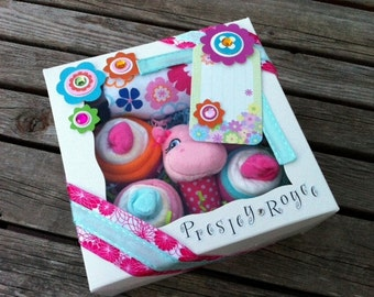 Washcloth/Onesie Cupcakes - Girl