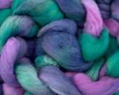 Hand dyed combed NZ Merino wool for felting and spinning - 100gr - Dilly Vanilli