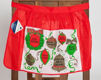 Vintage Christmas and New Years Apron