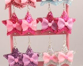 Dreamy Princess Star and Ribbon Sparkling Earrings. 7 Styles Available