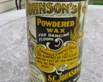 Johonson Wax for dance floor Tin