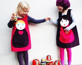 Russian Doll customised pinafore dress