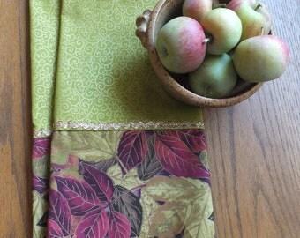Autumn Leaf Tea Towel Set, Dish Towels