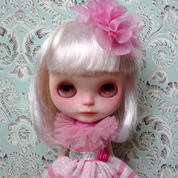"""Gorgeous Pink and Silver Dress and Crinoline Set for 12"""" Blythe, Pullip"""