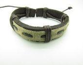 fashion Adjustable  leather Woven Bracelets mens bracelet cool bracelet jewelry bracelet bangle bracelet  cuff bracelet 1027S