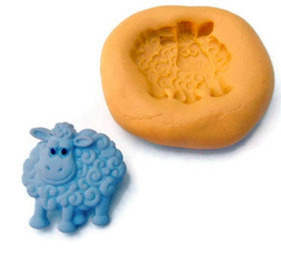 Farm animal SHEEP  - Food Quality non-toxic flexible silicone mold/mould - kawaii, resin, scrapbooking, wax, soap making
