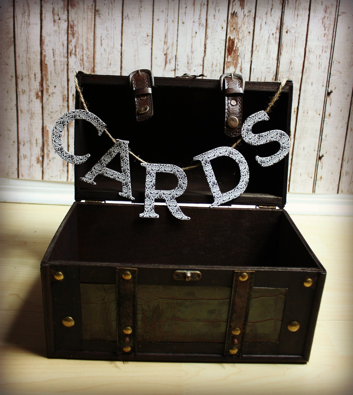Treasure Chest Wedding Gift Card Box : Wedding Card Box-Treasure Chest Style Wedding Card