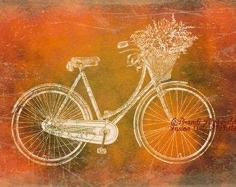 Key West in a Bike Basket.Lustre Finish