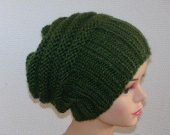 knit hat slouchy women / men - beanies style hat - Slouch Beanie Hat - Large knit hat - knit hat beanie  - chunky knit hat -  winter hat