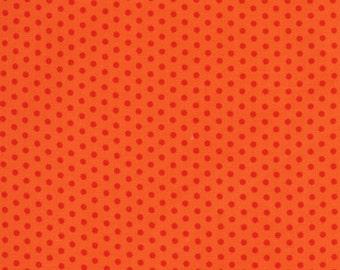 Spot On Tangerine Mini Dots From Robert Kaufman