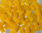 50 YELLOW BRICK ROAD 1/4 X 1/2 Very Tiny Borders Marigold Mosaic Tile
