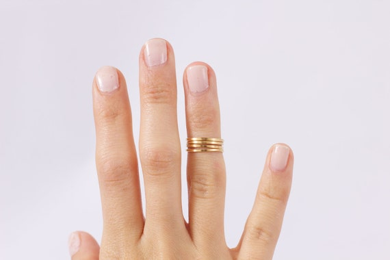 SALE Classic Ethiopian Wrap Knuckle Ring in Gold, Knuckle Ring, Raw Brass Ring, Organic Brass Ring, Organic Knuckle Ring,Tribal Ring, midi