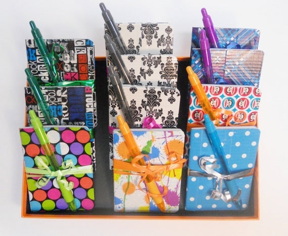 Mini Duct Tape Notebook and Pen